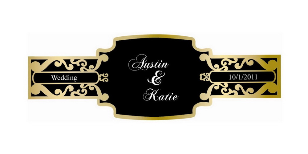 Wedding Custom Cigar Bands On Site Cigars